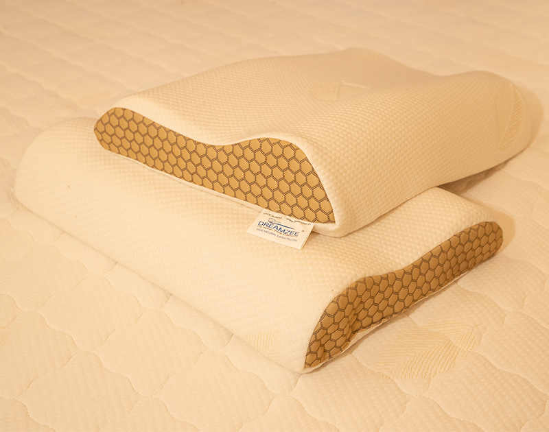 """100% Natural Latex Contour Pillow ( Size - 24"""" x 16"""" Inches )"""