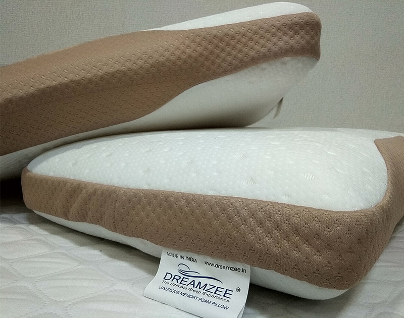 Dreamzee Memory Foam Pillow ( Knitted Fabric )