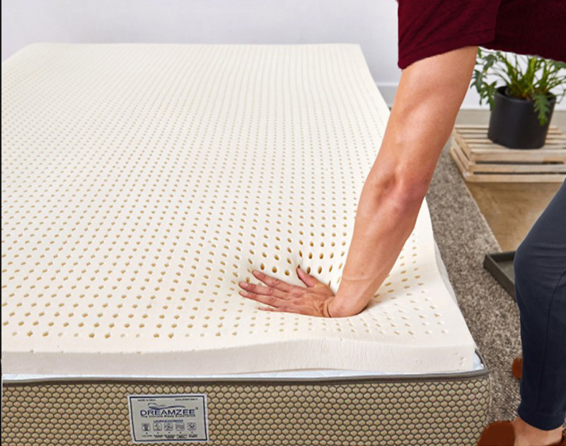 Dreamzee 100% Natural Latex Plus Pocket Spring Certified Hybrid Luxurious Mattress - Soft Comfort