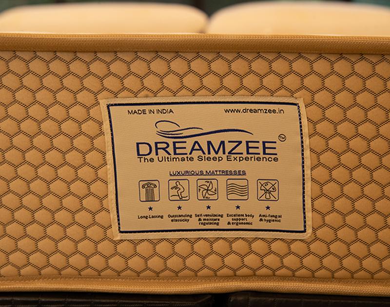 Dreamzee Lush - 100% Natural Latex + Pocket Spring Certified Hybrid Luxurious Mattress - Soft Comfort