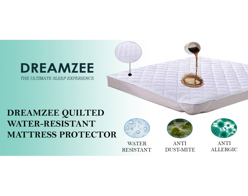 Dreamzee Quilted Water-Resistant Mattress Protector